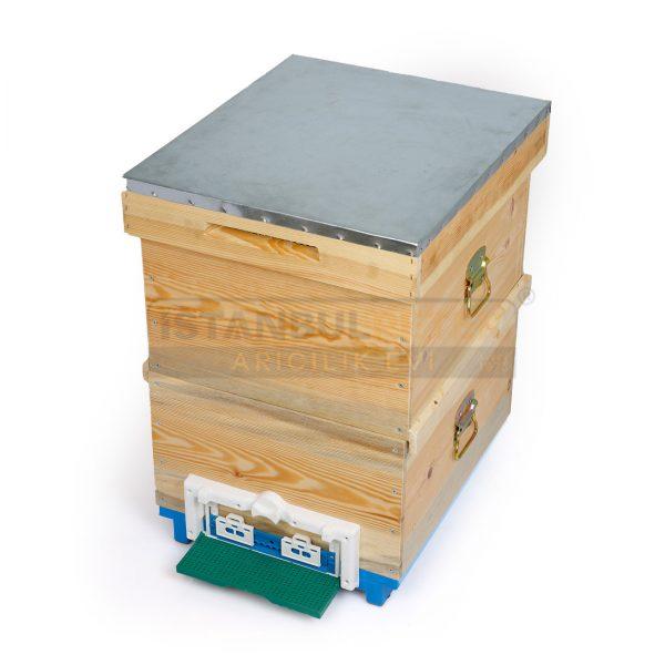 Arı Kovanı - Mavi Plastik Tabanlı 2 Katlı